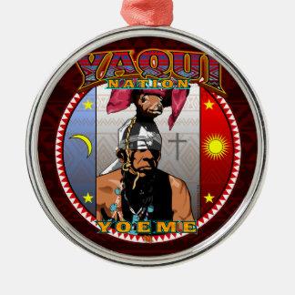 Adorno Metálico Diseño del bailarín de los ciervos de Yaqui Yoeme