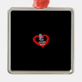 Adorno Metálico Diseño del corazón de la vela para el estado de