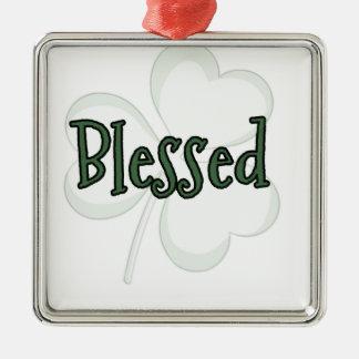 Adorno Metálico Diseño del día de St Patrick bendecido