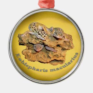Adorno Metálico ¡Diseño del gecko del leopardo para todos!