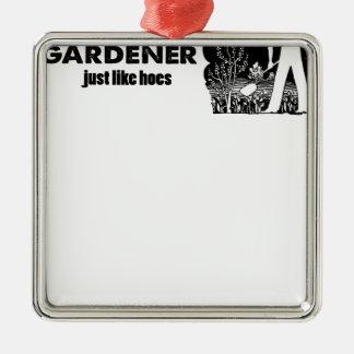 Adorno Metálico diseño del jardinero