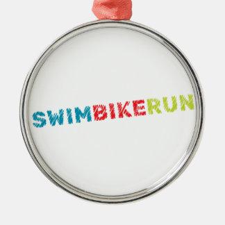 Adorno Metálico Diseño del Triathlon