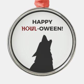 Adorno Metálico Diseño feliz de Halloween del hombre lobo del