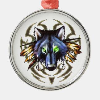 Adorno Metálico Diseño tribal del tatuaje del lobo