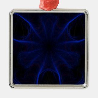 Adorno Metálico DK. Laser azul