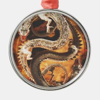 Adorno Metálico Dragones de Yin Yang - caos