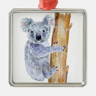 Adorno Metálico Ejemplo de la koala de la acuarela