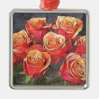 Adorno Metálico Ejemplo de los rosas rojos
