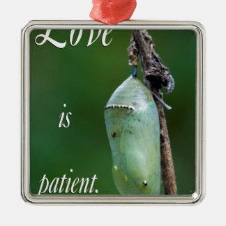 Adorno Metálico el amor es paciente
