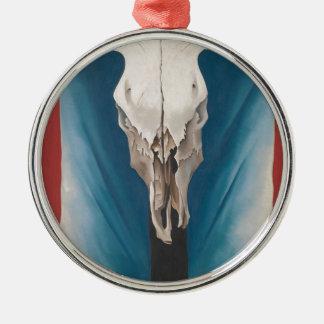 Adorno Metálico El cráneo de la vaca de Georgia O Keeffe: Rojo,