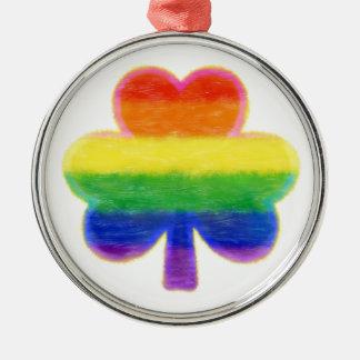 Adorno Metálico El día de St Patrick del trébol del arco iris