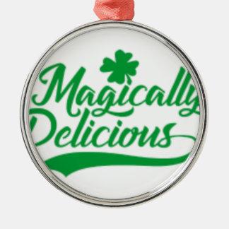 Adorno Metálico El día de St Patrick mágico delicioso