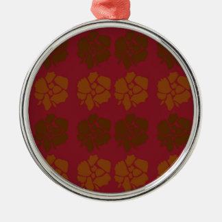Adorno Metálico El diseño florece marrón del ethno
