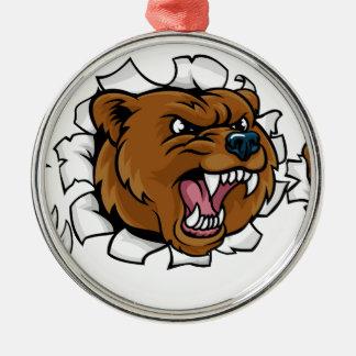 Adorno Metálico El fondo enojado de la mascota del oso agarra