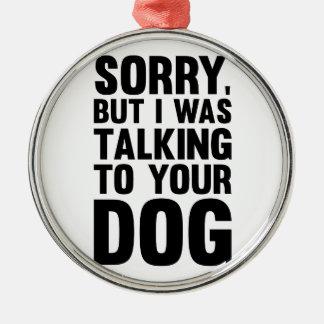 Adorno Metálico El hablar con su perro