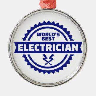 Adorno Metálico El mejor electricista del mundo