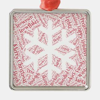 Adorno Metálico El navidad adorna el copo de nieve formado de la