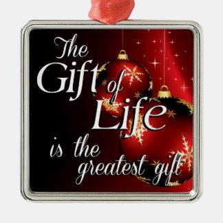 Adorno Metálico El regalo de la vida es el regalo más grande