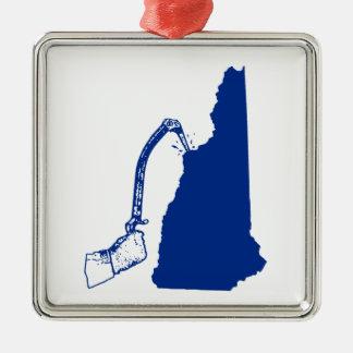 Adorno Metálico El subir del hielo de New Hampshire
