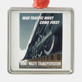 Adorno Metálico El tráfico de la guerra debe venir primer WW-2