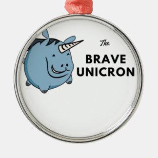 Adorno Metálico El unicornio valiente lo más tarde posible