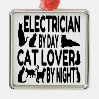 Adorno Metálico Electricista del amante del gato del día por noche