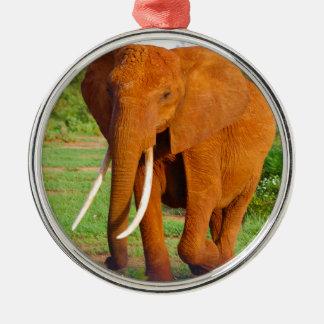 Adorno Metálico Elefante anaranjado hermoso