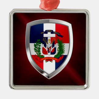 Adorno Metálico Emblema de Mettalic de la República Dominicana