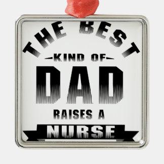 Adorno Metálico Enfermera, la mejor clase de papá