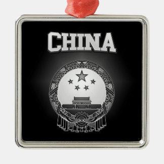 Adorno Metálico Escudo de armas de China