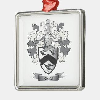 Adorno Metálico Escudo de armas del escudo de la familia de Rees