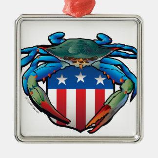 Adorno Metálico Escudo de los E.E.U.U. del cangrejo azul