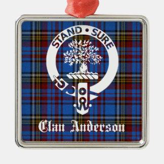 Adorno Metálico Escudo del tartán de Anderson del clan
