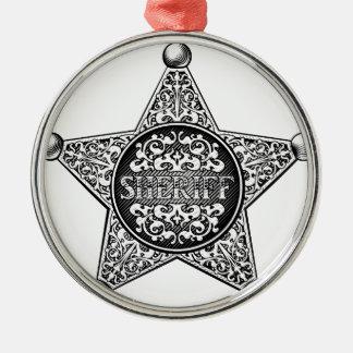 Adorno Metálico Estilo occidental de la insignia de la estrella