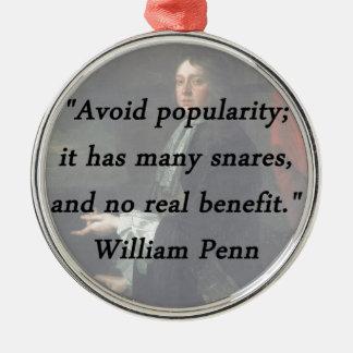 Adorno Metálico Evite el renombre - William Penn