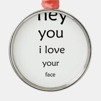 Adorno Metálico ey usted amor de i su cara