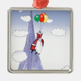 Adorno Metálico Felices Navidad de ShardArt de Tony Fernandes