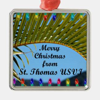 Adorno Metálico Felices Navidad de St Thomas