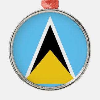 Adorno Metálico Flag_of_Saint_Lucia