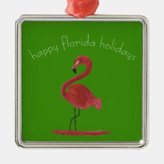 Adorno Metálico Flamenco rosado caprichoso y coqueto de la Florida