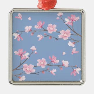 Adorno Metálico Flor de cerezo - azul de la serenidad