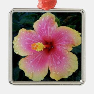 Adorno Metálico Flor del Hawaiian del hibisco