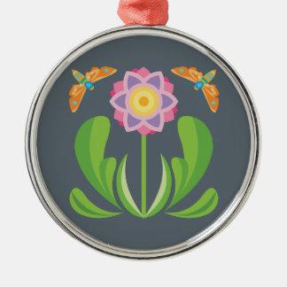 Adorno Metálico Flor feliz