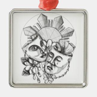 Adorno Metálico Flor S filipino de Sampaguita del hibisco de la