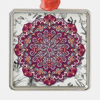 Adorno Metálico Floral Mandala