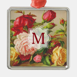 Adorno Metálico Flores del ramo de los rosas del Victorian del