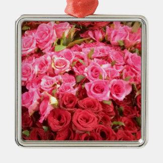 Adorno Metálico Flores en los rosas de Filipinas, rosados y rojos