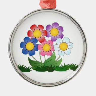 Adorno Metálico flores y pintura
