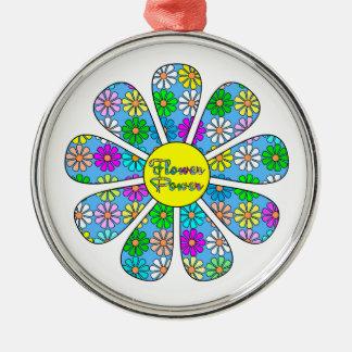 Adorno Metálico Flower power feliz