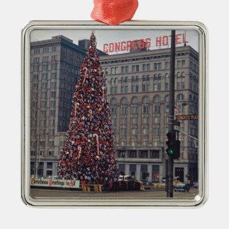 Adorno Metálico Foto 1963 del árbol de navidad del hotel del